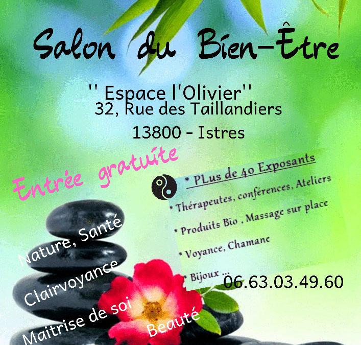 Salon Bien-être le samedi 25 et dimanche 26 Janvier à l'espace Olivier d'Istres.
